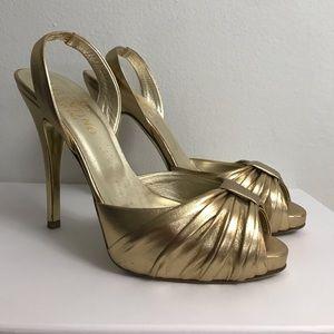 Valentino gold platform shoes sz 9